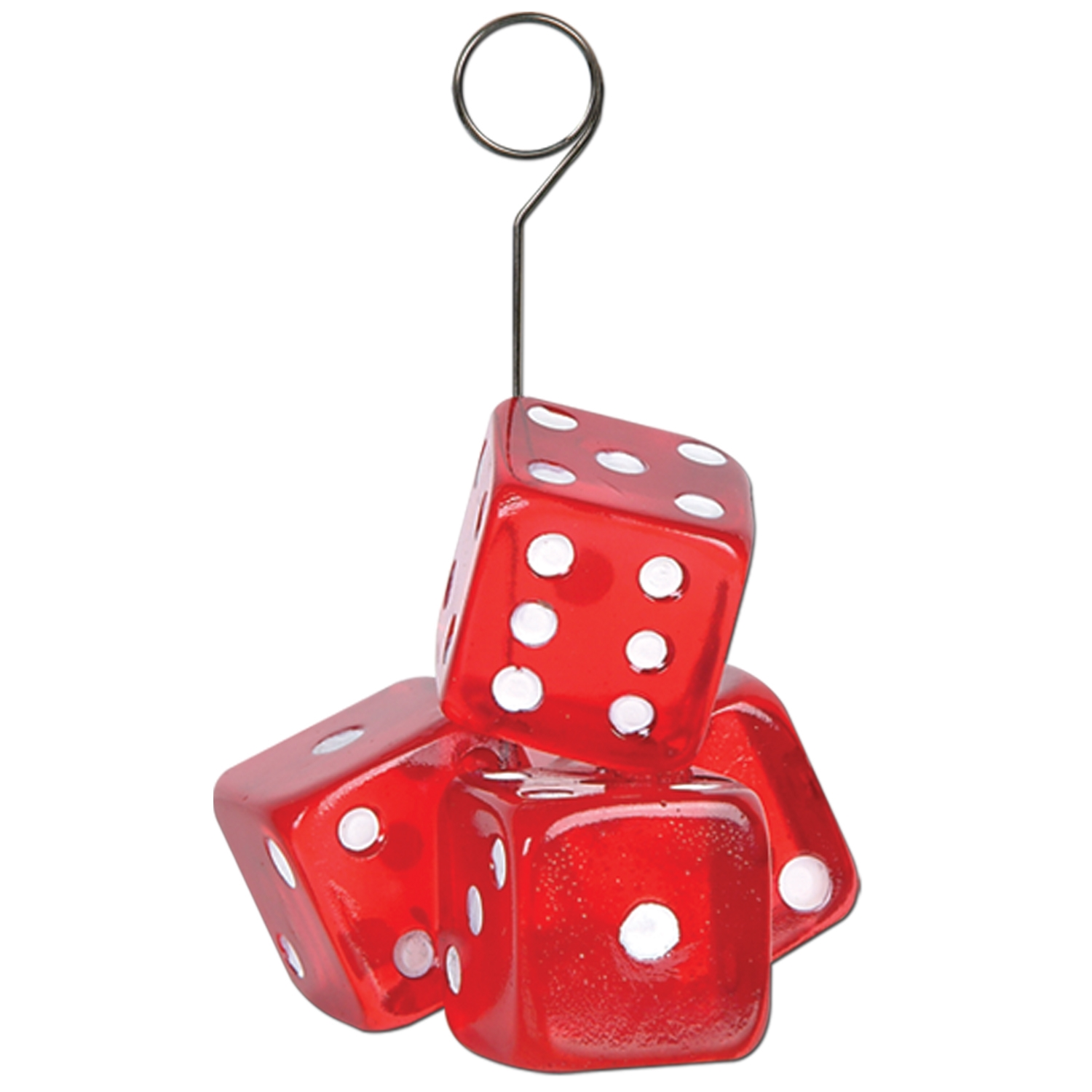 6oz Dice Photo/Balloon Holder (Pack of 6) dice, photo, balloon, holder, table, decoration, centerpiece, gambling, casino, betting, poker, night, hotel, restaurant, bar, party, pack, event, celebration