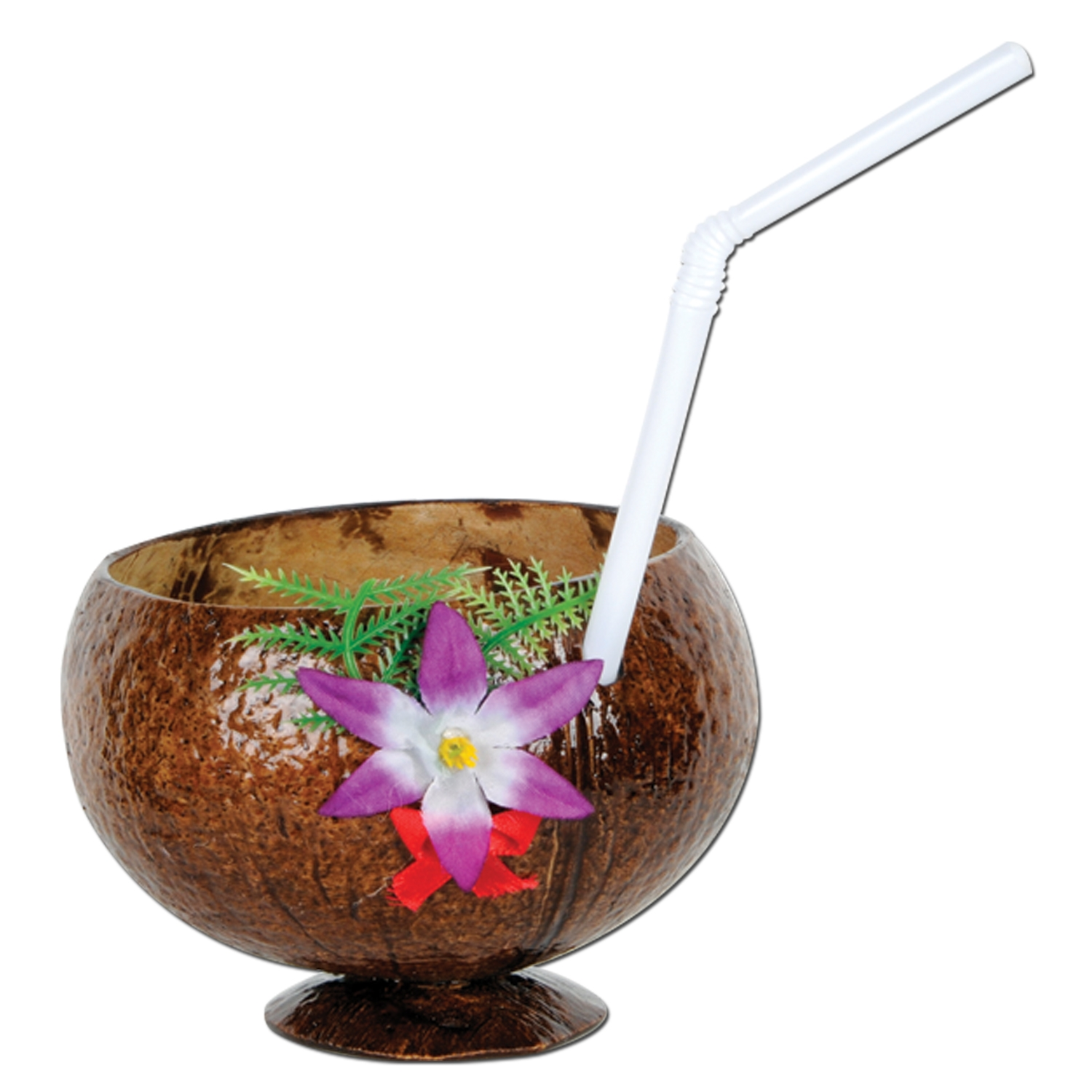 Coconut Cup (Pack of 12) coconut, cup, island, theme, decoration, party, luau, supplies, accessory,