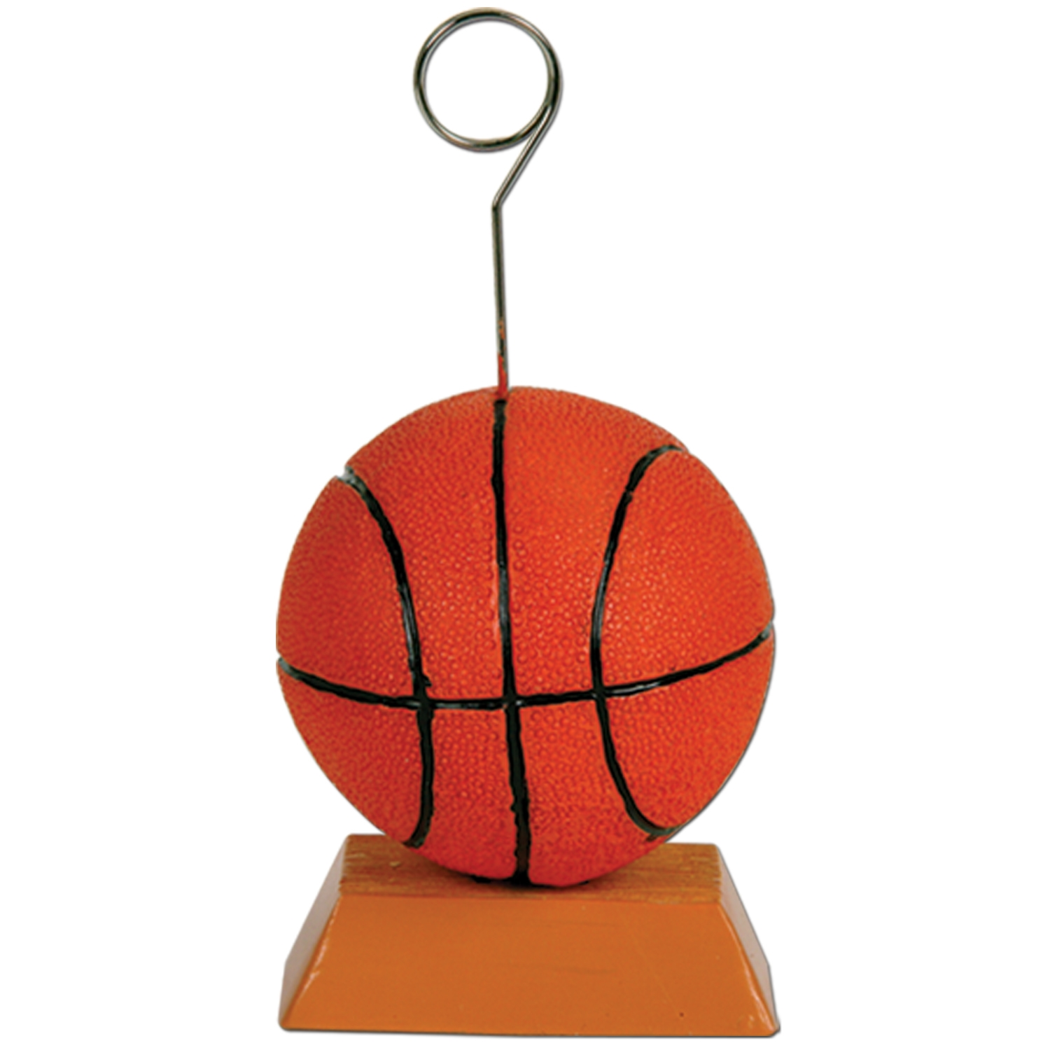Basketball Photo/Balloon Holder 6 Oz (Pack of 6) Basketball Photo Holder, Basketball Balloon Holder, Balloon, Photo, Holder, Balloon Weight, Photo Holder, Centerpieces, Sports Decor, Party Favors, Wholesale party supplies, Inexpensive party decorations, Basketball, Sports Banquet