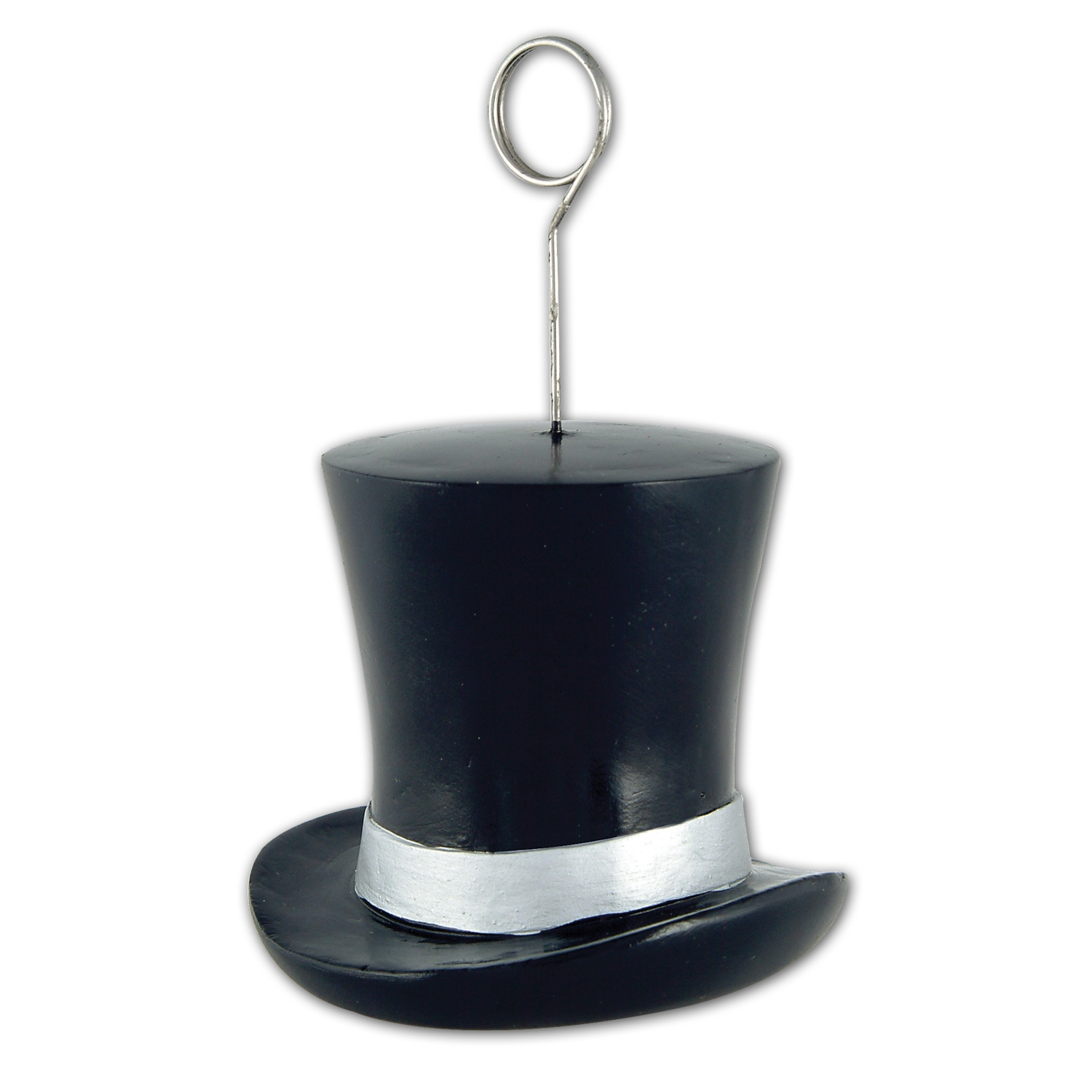 6oz Top Hat Photo/Balloon Holders (Pack of 6) top, hat, photo, balloon, holder, fashion, costume, awards, night, Hollywood, new, years, eve, party, pack, hotel, restaurant, bar, casino, theme, Halloween, table, decoration, centerpiece