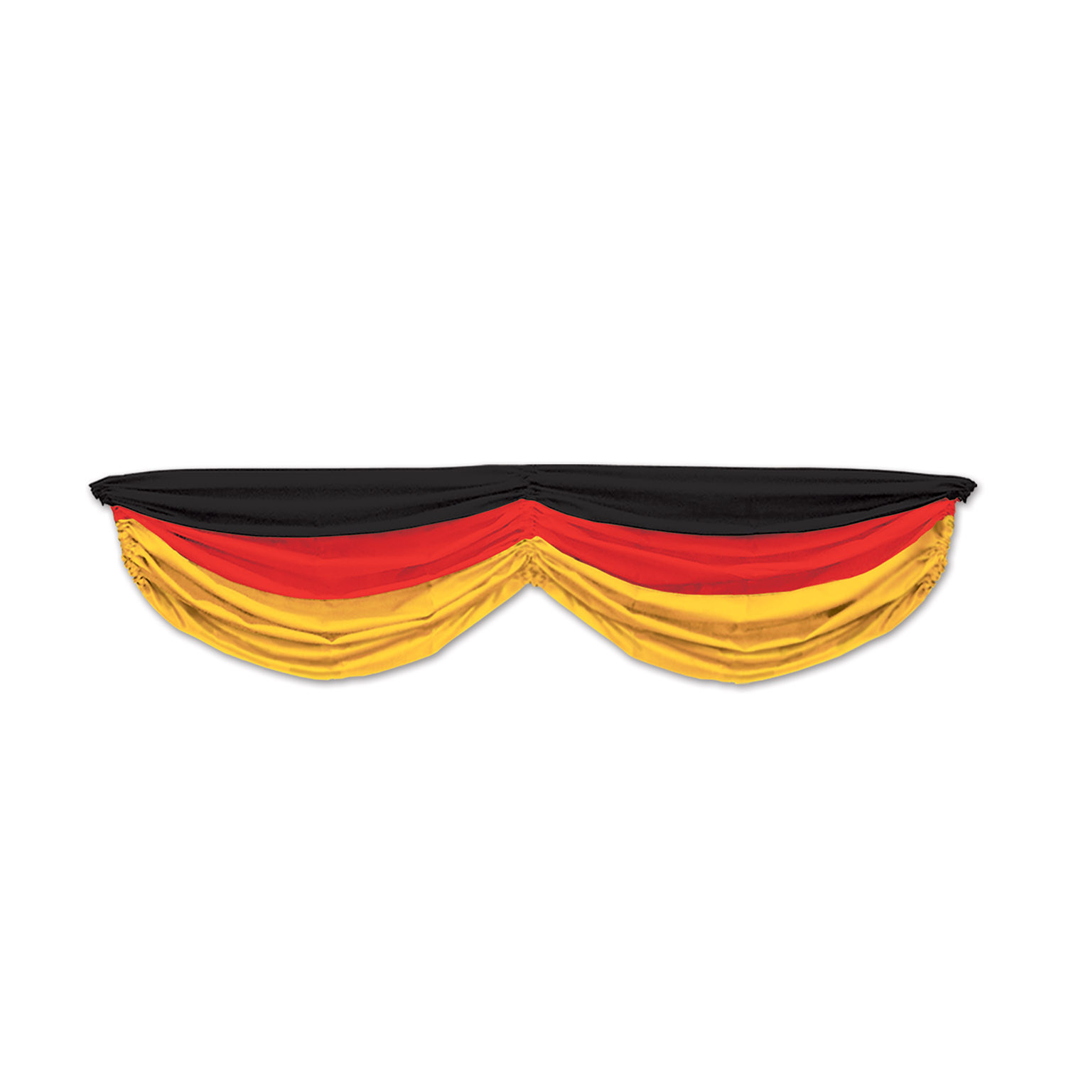 German Fabric Bunting (Pack of 6) German, Oktoberfest, Beer, Red, Yellow, Black, Fabric Bunting, Indoor/outdoor, Cheap, Decor, Party goods, Wholesale party supplies, Inexpensive party favors, Bulk packs, Beads, Balloons, International