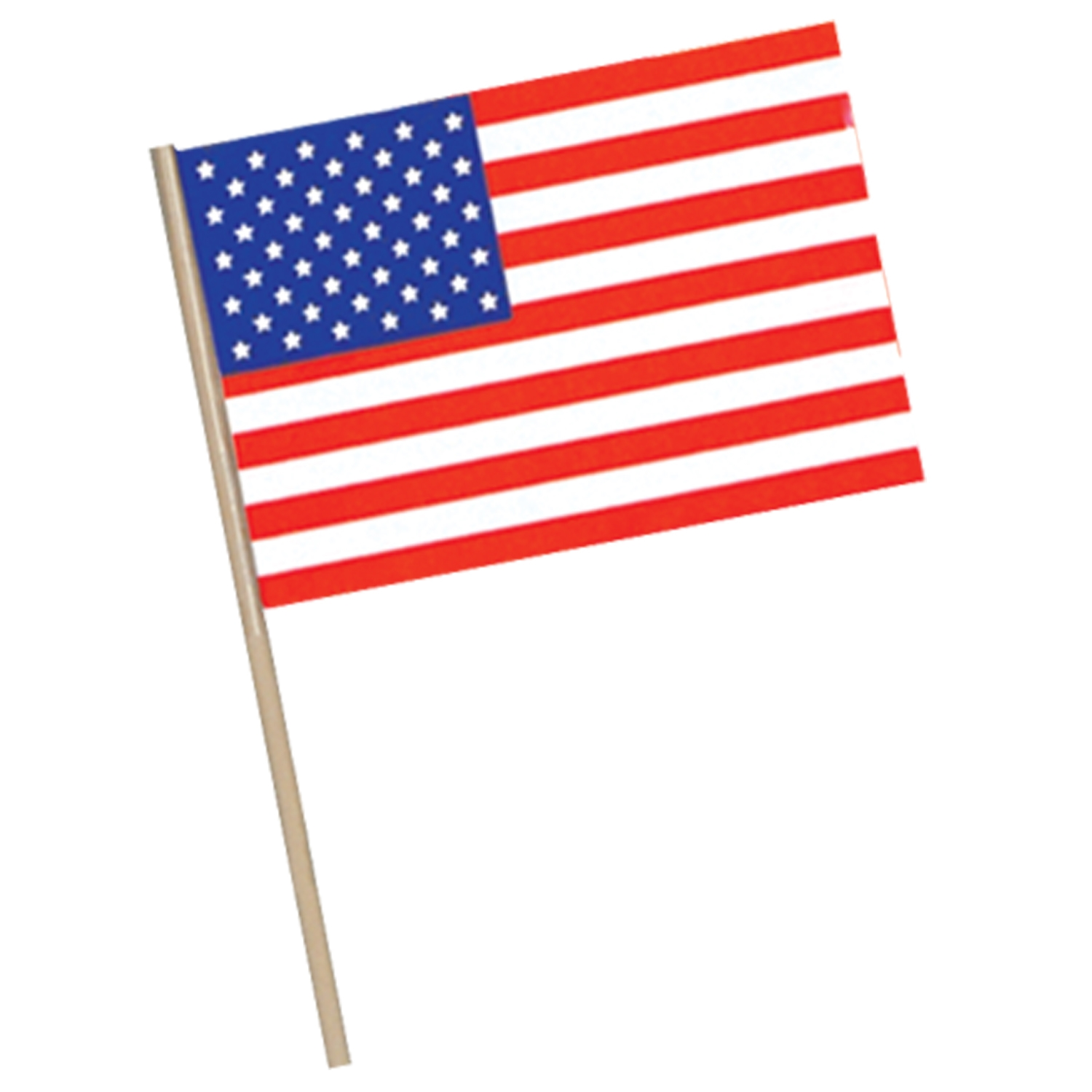 American Flag - Plastic (Pack of 144) American Flags, Flags, Patriotic Decor, Wholesale party supplies, Inexpensive party decorations, Fourth of July, Memorial Day, Labor Day