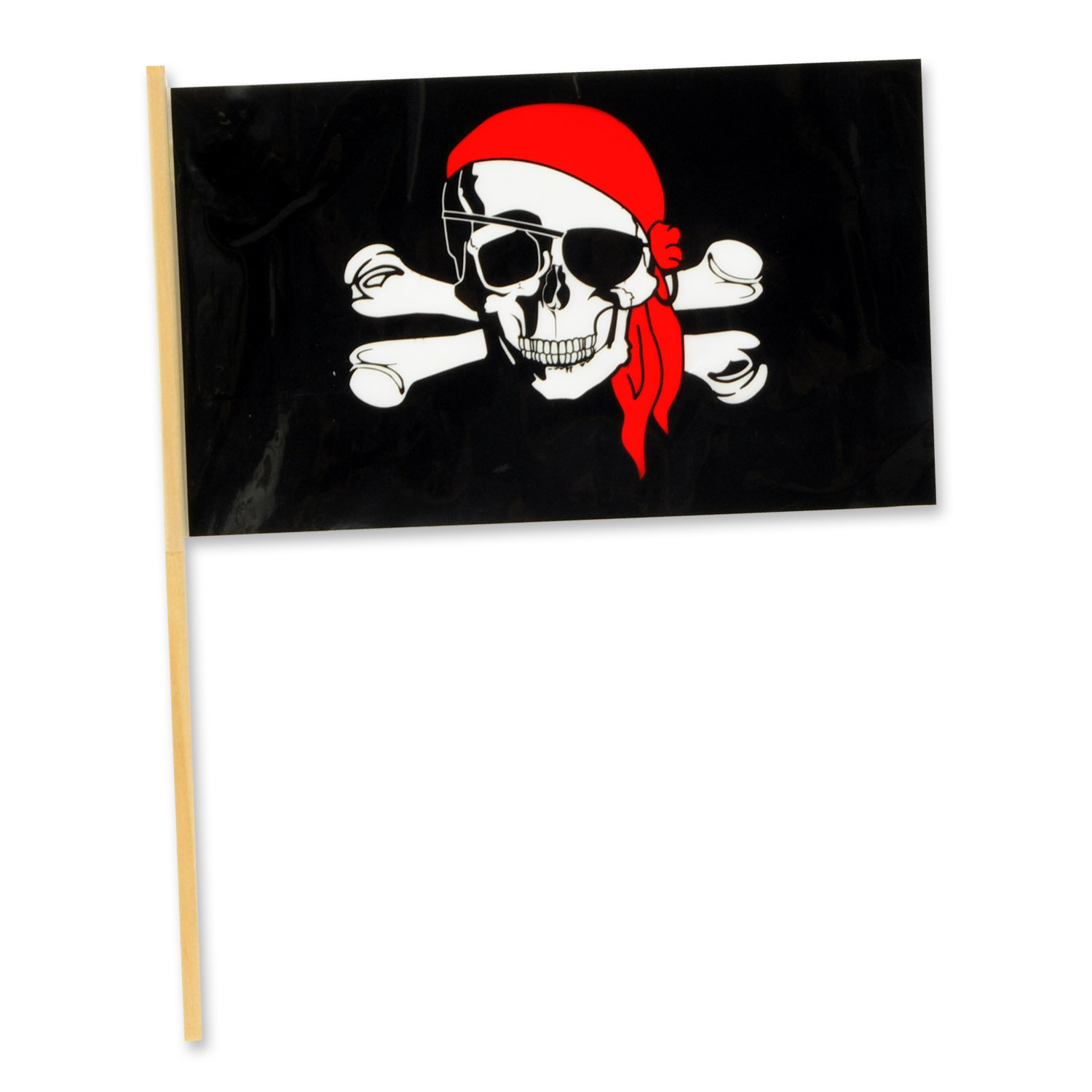 Pirate Flag - Plastic (Pack of 144) Pirate, flags, pirate flags, skull and bones, pirate skull