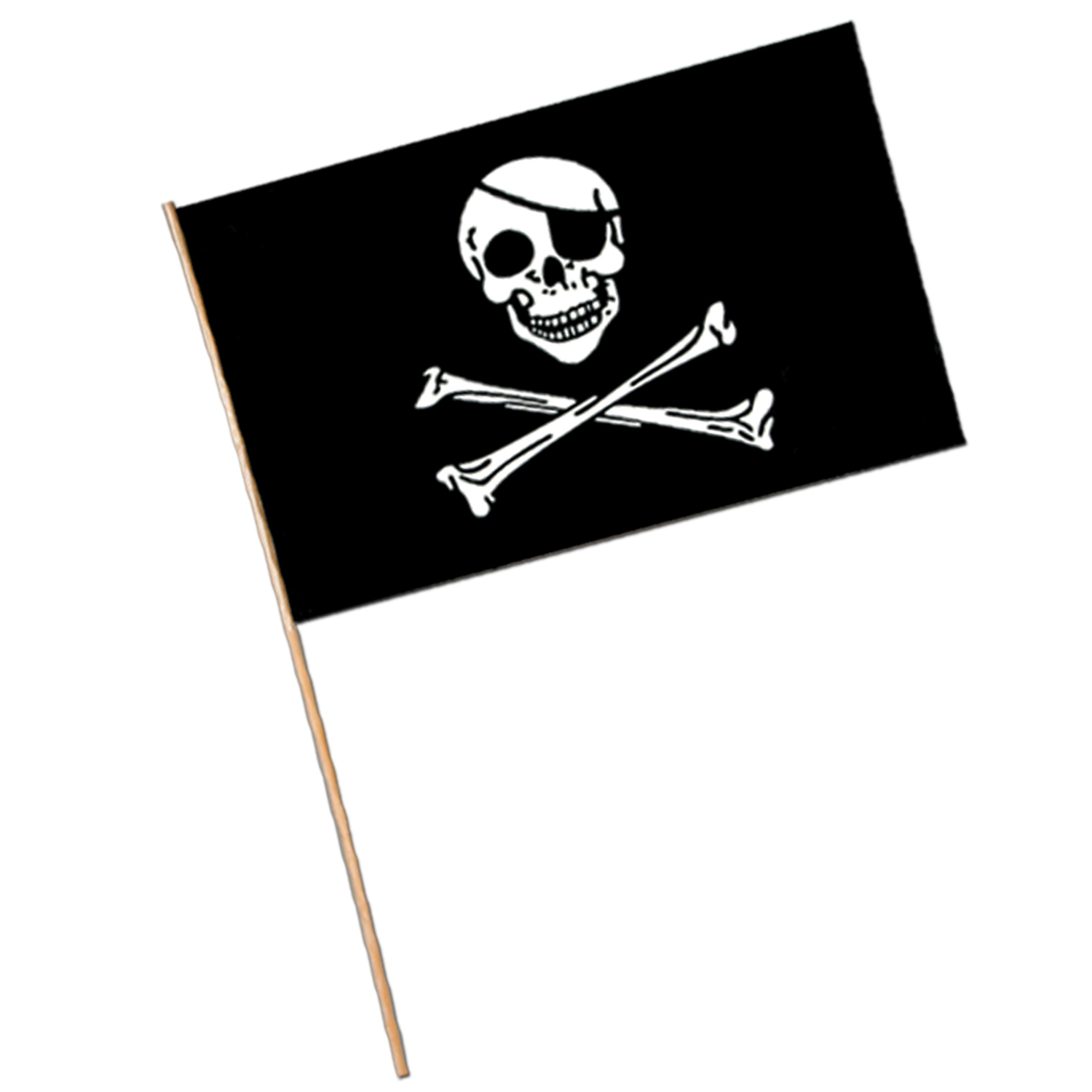 Pirate Flag - Plastic (Pack of 144) Skull and Bones, Pirate, flag, pirate skull, eyepatch, pirate flag