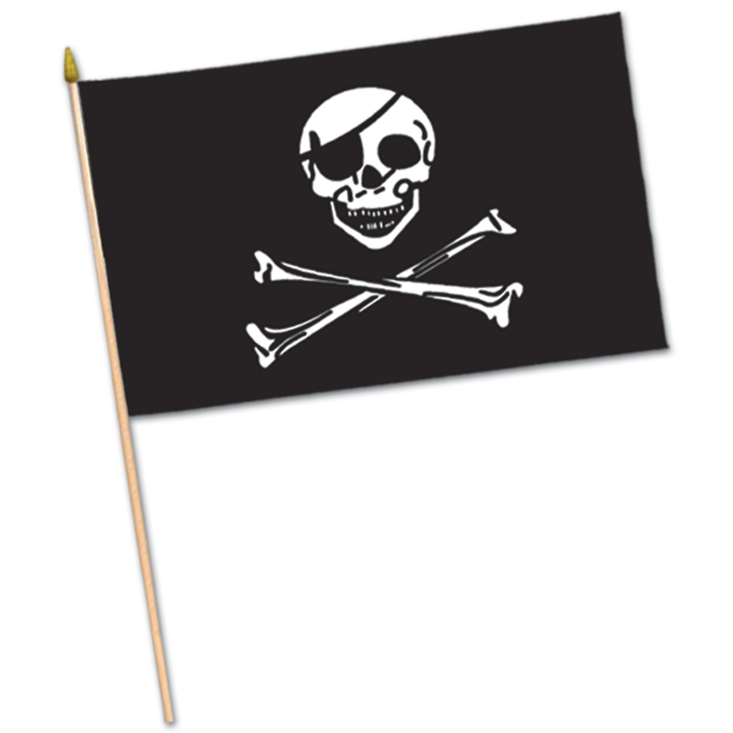 Pirate Flag - Rayon (Pack of 12) Rayon flag, flag, pirate, pirate flag, skull and bones, pirate skull