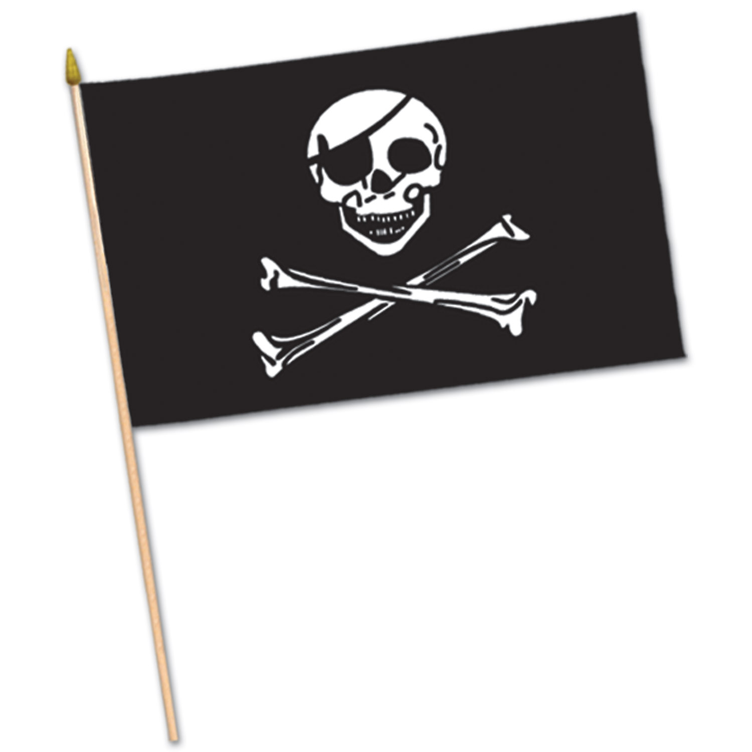 Pirate Flag - Rayon (Pack of 12) Skull and Bones, Pirate Skull, pirate flag, flag, pirates