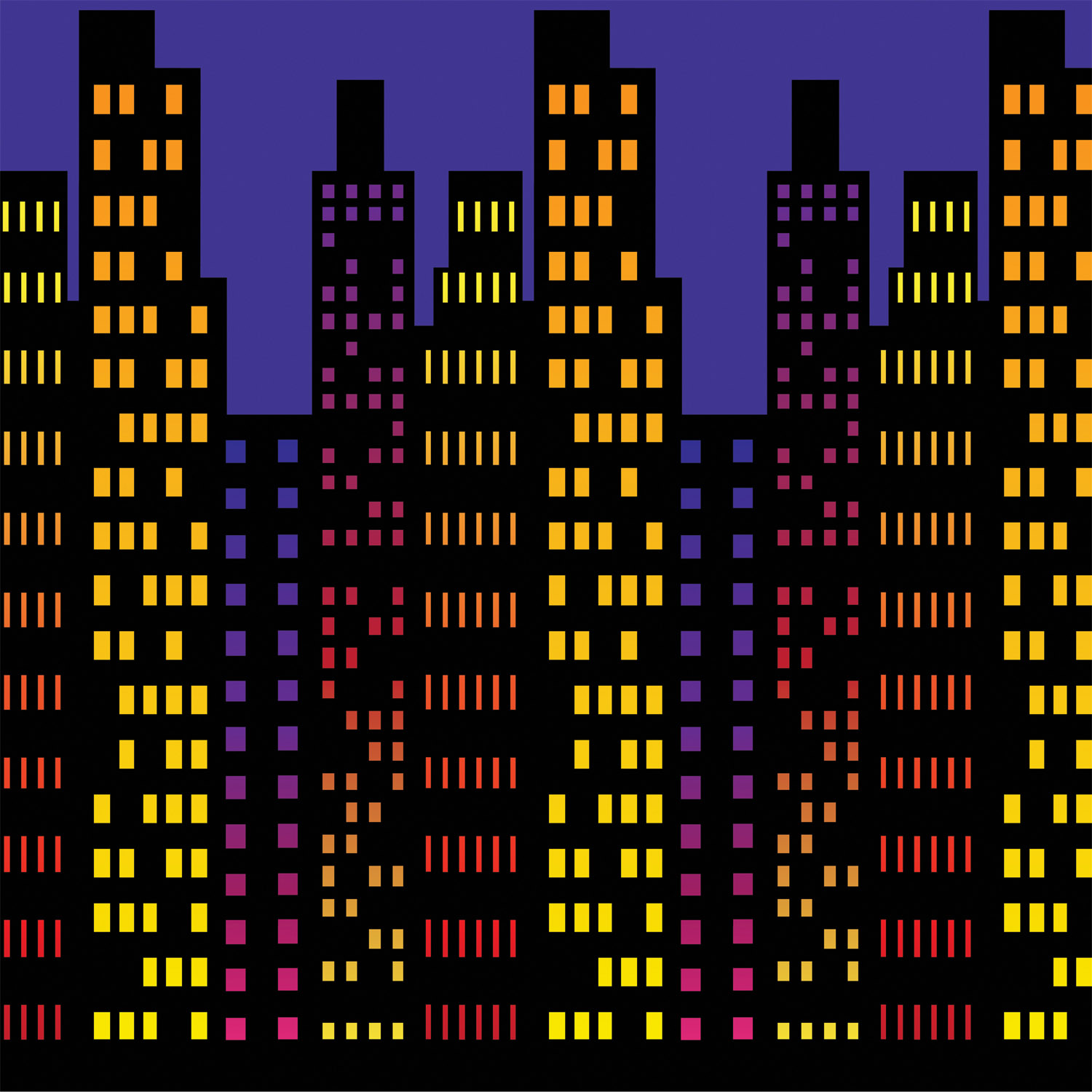Cityscape Backdrop (Pack of 6) city, backdrop, hollywood, new years eve, inexpensive, wholesale, bulk