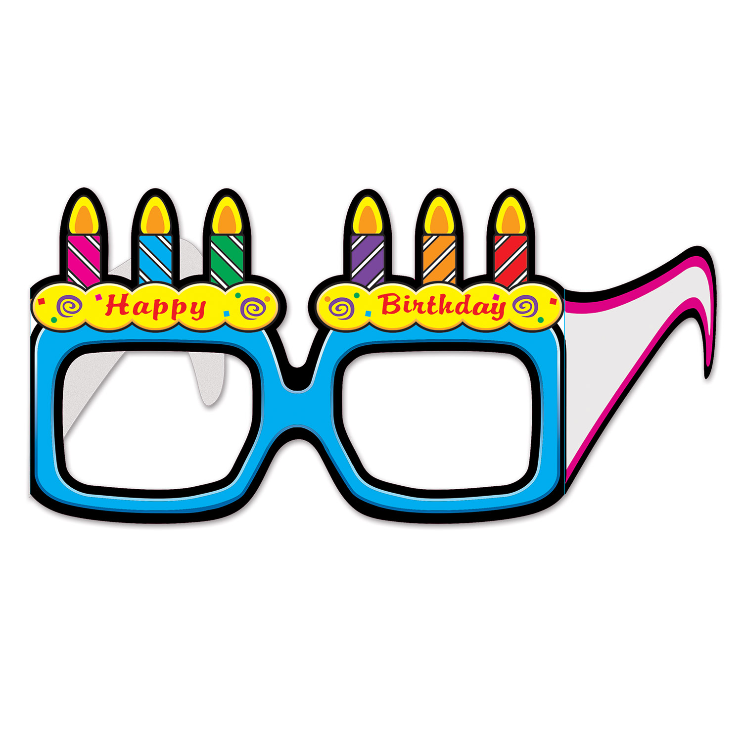 Birthday Cake Eyeglasses (Pack of 144) happy birthday, birthday, cake, celebration, candles