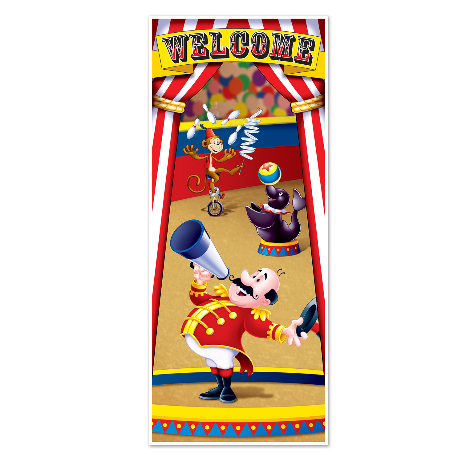 Circus Tent Door Cover (Pack of 12) Circus, tent, door, cover, new years eve, birthday, decoration, wholesale, inexpensive, bulk