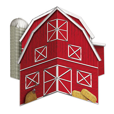 3-D Red Barn Centerpiece
