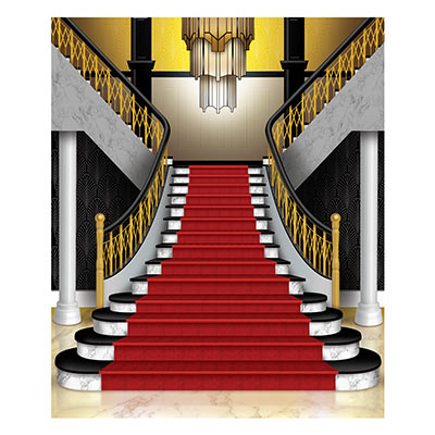 Grand Staircase Instant Mural Photo Prop