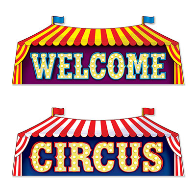 Welcome Circus Sign Cutouts for a Themed Party