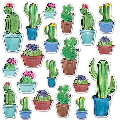 Cactus Cutouts for a Fiesta party