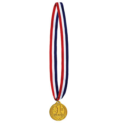 1st Place Medal w/Ribbon (Pack of 12)