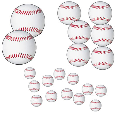 Baseball Cutouts (Pack of 240) Baseball Cutouts, baseball, cutouts, decoration, wholesale, inexpensive, bulk