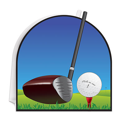 3-D Golf Centerpiece (Pack of 12) 3-D Golf Centerpiece, golf, centerpiece, decoration, sport, wholesale, inexpensive, bulk