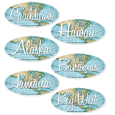 Bon Voyage Sign Cutouts (Pack of 72) Bon Voyage Sign Cutouts, bon voyage, cutouts, decoration, around the world, wholesale, inexpensive, bulk, new years eve, prom