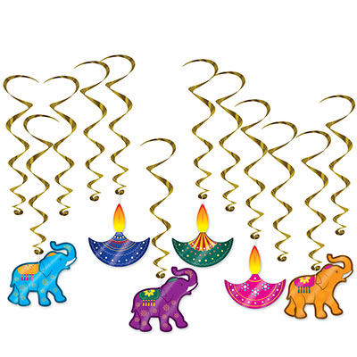 Diwali Whirls (Pack of 72) Diwali Whirls, Diwali, whirls, decoration, wholesale, inexpensive, bulk