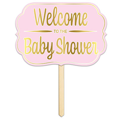 Foil Welcome ToThe Baby Shower Yard Sign (Pack of 6) Foil Welcome ToThe Baby Shower Yard Sign, welcome to the baby shower, little girl, decoration, baby shower, wholesale, inexpensive, bulk