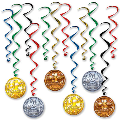 Award Medal Whirls (Pack of 72) Award Medal Whirls, award, medals, whirls, decoration,  wholesale, inexpensive, bulk