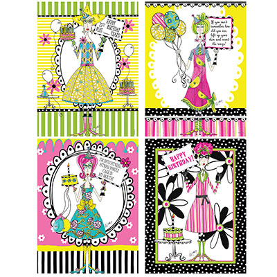 Dolly Mamas Adult Celebration Poster Cutouts (Pack of 48) Dolly Mamas Adult Celebration Poster Cutouts