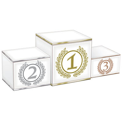 3-D Podium Centerpiece (Pack of 12) 3-D Podium Centerpiece, podium, centerpiece, decoration, wholesale, inexpensive, bulk, sport