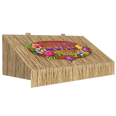3-D Tiki Bar Awning Wall Decoration (Pack of 6) 3-D Tiki Bar Awning Wall Decoration, tiki bar, luau, decoration, around the world, prom, new years eve, wholesale, inexpensive, bulk