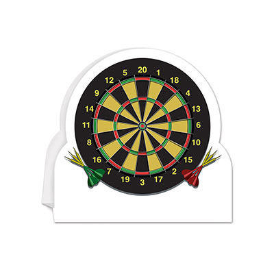 3-D Dartboard Centerpiece (Pack of 12) 3-D Dartboard Centerpiece, darts, centerpiece, decoration, sports, wholesale, inexpensive, bulk