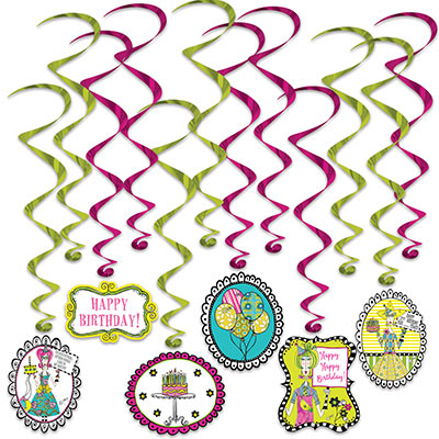 Dolly Mamas Adult Celebration Whirls (Pack of 72) Dolly Mamas Adult Celebration Whirls, dolly mama, decoration, whirl, wholesale, inexpensive, bulk, birthday