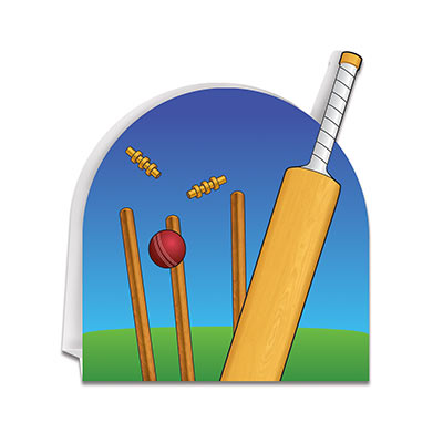 3-D Cricket Centerpiece (Pack of 12) 3-D Cricket Centerpiece, cricket, centerpiece, decoration, sports, wholesale, inexpensive, bulk