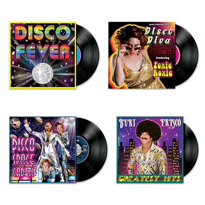 Disco Album Cutouts (Pack of 48) Disco Album Cutouts, disco, 70s, disco, decoration, new years eve, wholesale, inexpensive, bulk