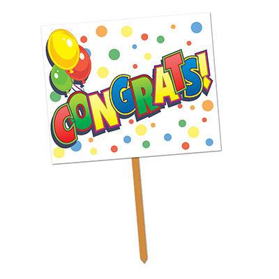 Congrats! Yard Sign (Pack of 6) Congrats! Yard Sign, congrats, yard sign, decoration, wholesale, inexpensive, bulk