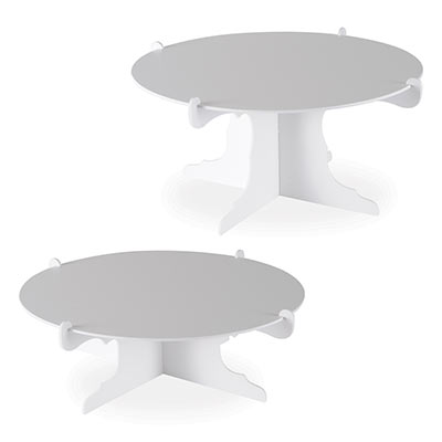 Cake Stands (Pack of 24) Cake Stands, cake, stands, decoration, white, birthday, retirement, baby shower, bachelorette, anniversary, wedding, wholesale, inexpensive, bulk