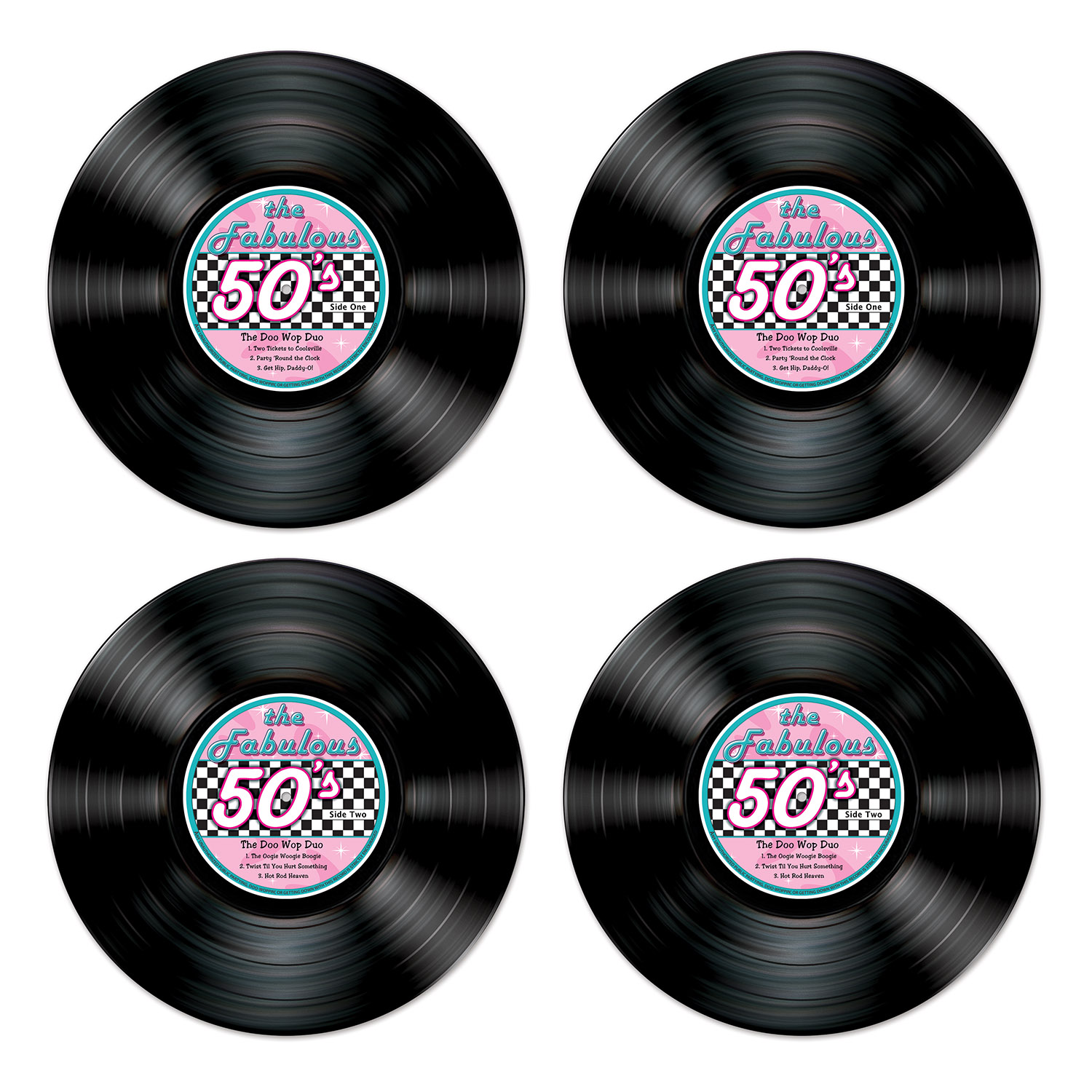 Record Cutouts (Pack of 48) Records, 50s records, music, records cutouts, musical