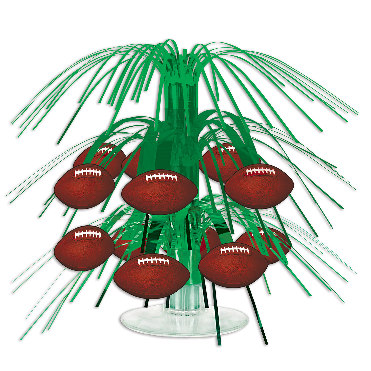 Football Mini Cascade Centerpiece (Pack of 12) Cheap Centerpiece, Football centerpiece, Football Decor, Cheap Football supplies, Game Day, Table Centerpieces, Wholesale decorations, Cheap party goods, Tissue Centerpieces, Inexpensive party