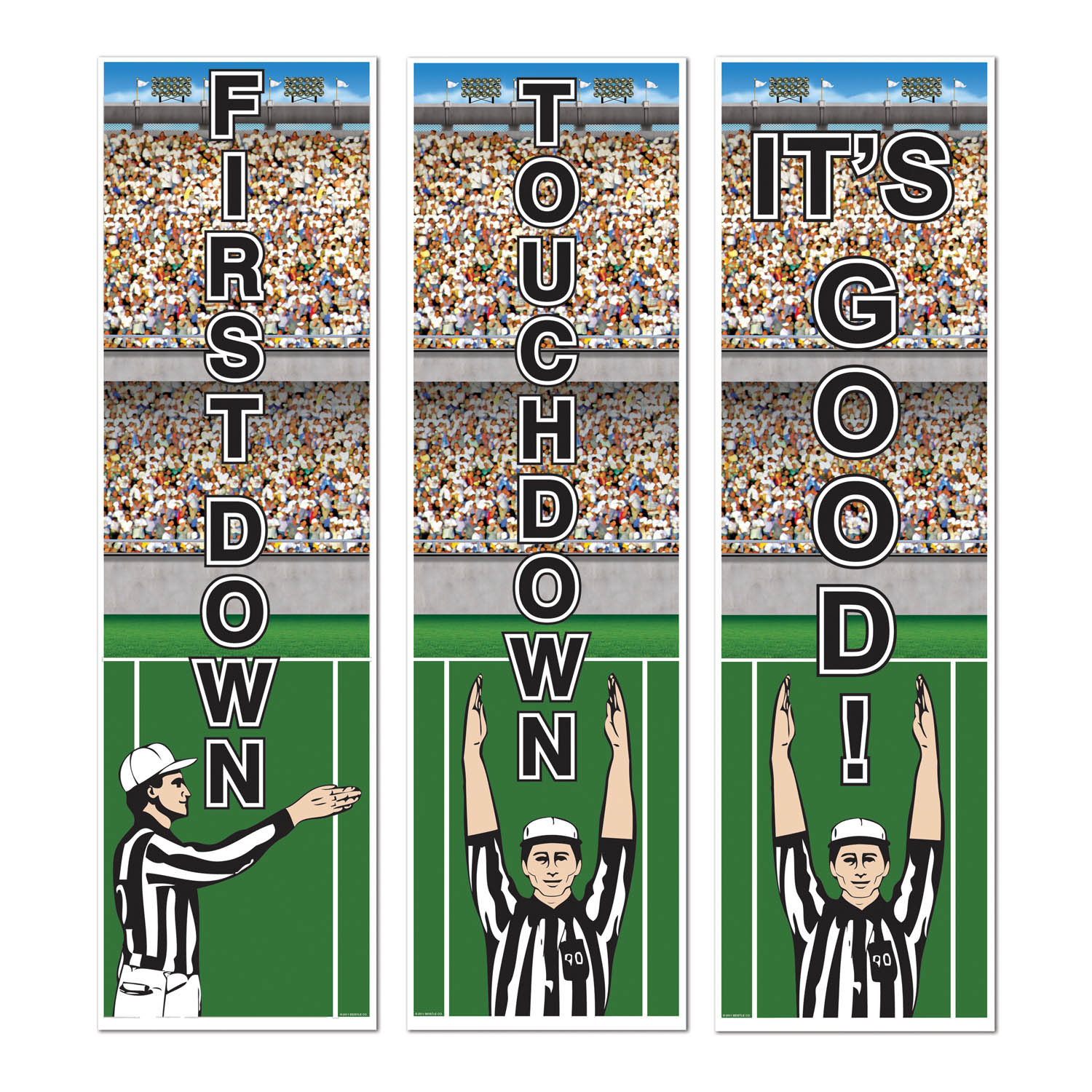 Football Cutouts (Pack of 36) Football, Super bowl, referee, touchdown, first down