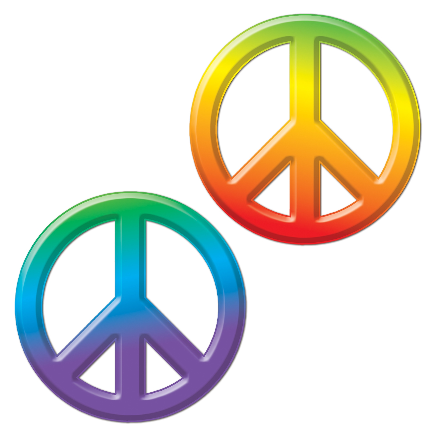 Plastic Peace Sign (Pack of 24) Plastic Peace Sign, 1960s Decor, Wholesale party supplies, Cheap peace signs, Groovy decorations, Cheap decor, Retro supplies, Tie-Dyed