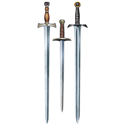 e8ee795b290 Medieval Sword Cutouts (Pack of 36) Medieval Sword Cutouts