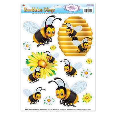 Bumblebee wall Clings for a summer themed party