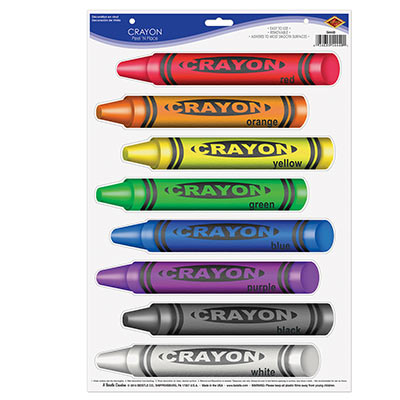 Crayons Peel N Place for back to school party