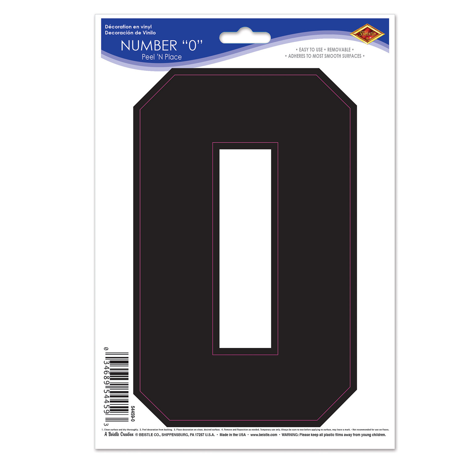 Black  0  Peel N Place (Pack of 12) sports, Game Day, peel N Place, football, games