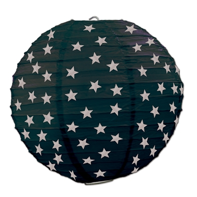 Star Paper Lanterns (Pack of 18) decoration, black, silver, nye, awards night, wholesale, inexpensive