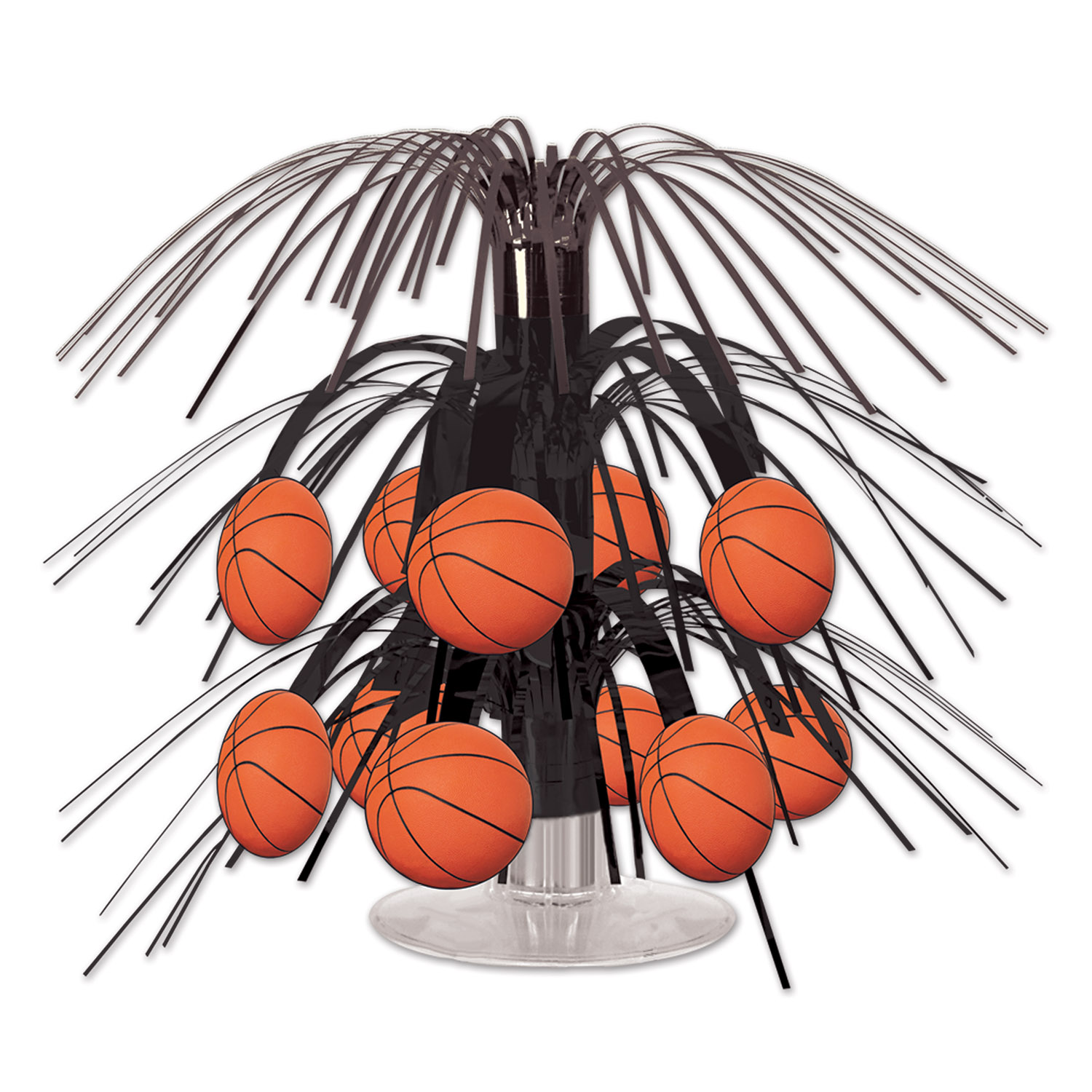 Basketball Mini Cascade Centerpiece (Pack of 12) sports, basketball, cascade, centerpiece, table top, balls, games, players, competition