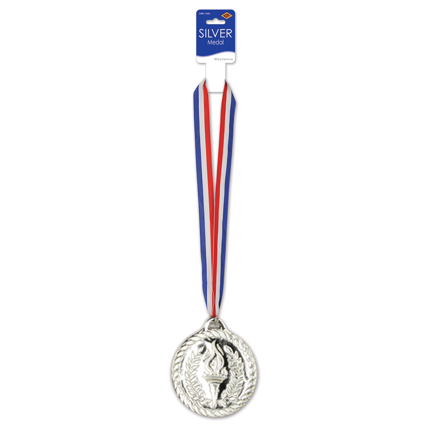 Silver Medal with Ribbon (Pack of 12) 2nd Place Medal, Second Place, Silver Medal, Sports Award, Sports Ribbon, Inexpensive Awards Medal, Wholesale party supplies