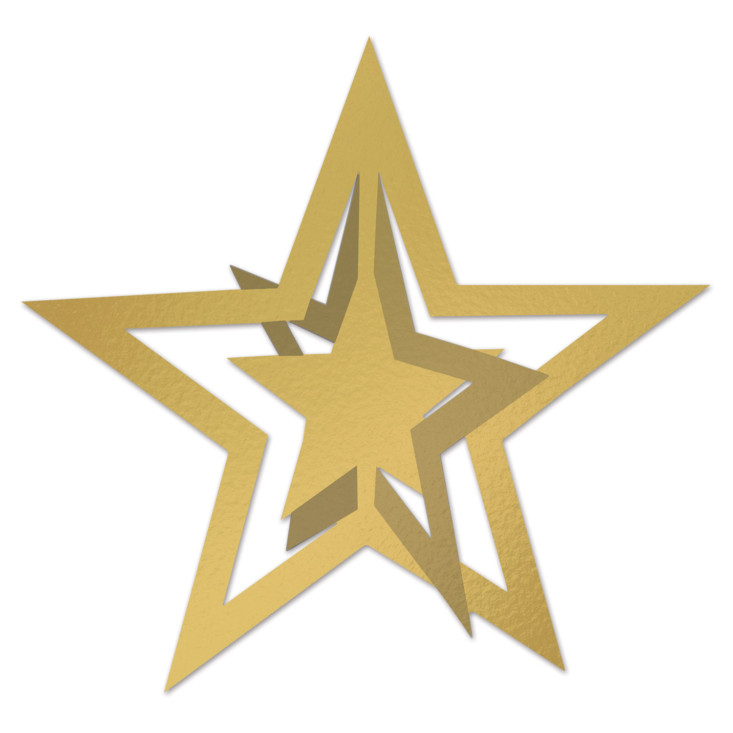 3-D Foil Hanging Star (Pack of 12) .