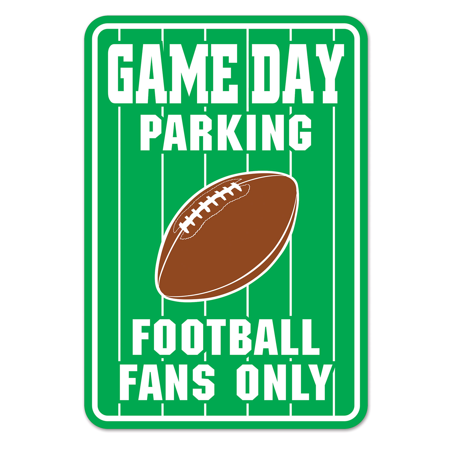 Game Day Parking Sign (Pack of 24) Game Day Parking Sign, Football decorations, Wholesale party supplies, Sports decorations, Inexpensive hanging decorations, Football poster