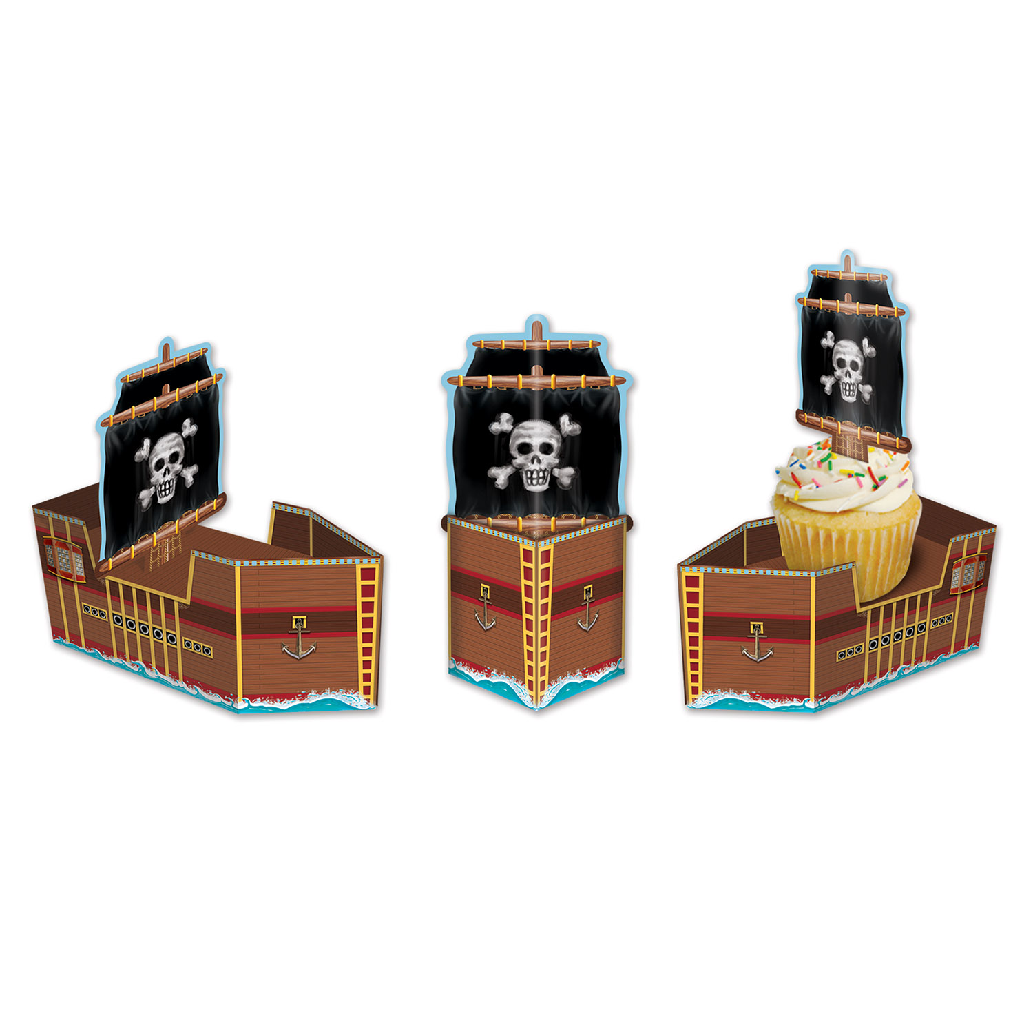 Pirate Ship Favor Boxes (Pack of 36) Pirate Ship Favor Boxes, party favor, new years eve, nautical, wholesale, inexpensive, bulk