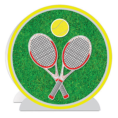 3-D Tennis Centerpiece (Pack of 12) 3-D Tennis Centerpiece, tennis, centerpiece, decoration, sports, wholesale, inexpensive, bulk