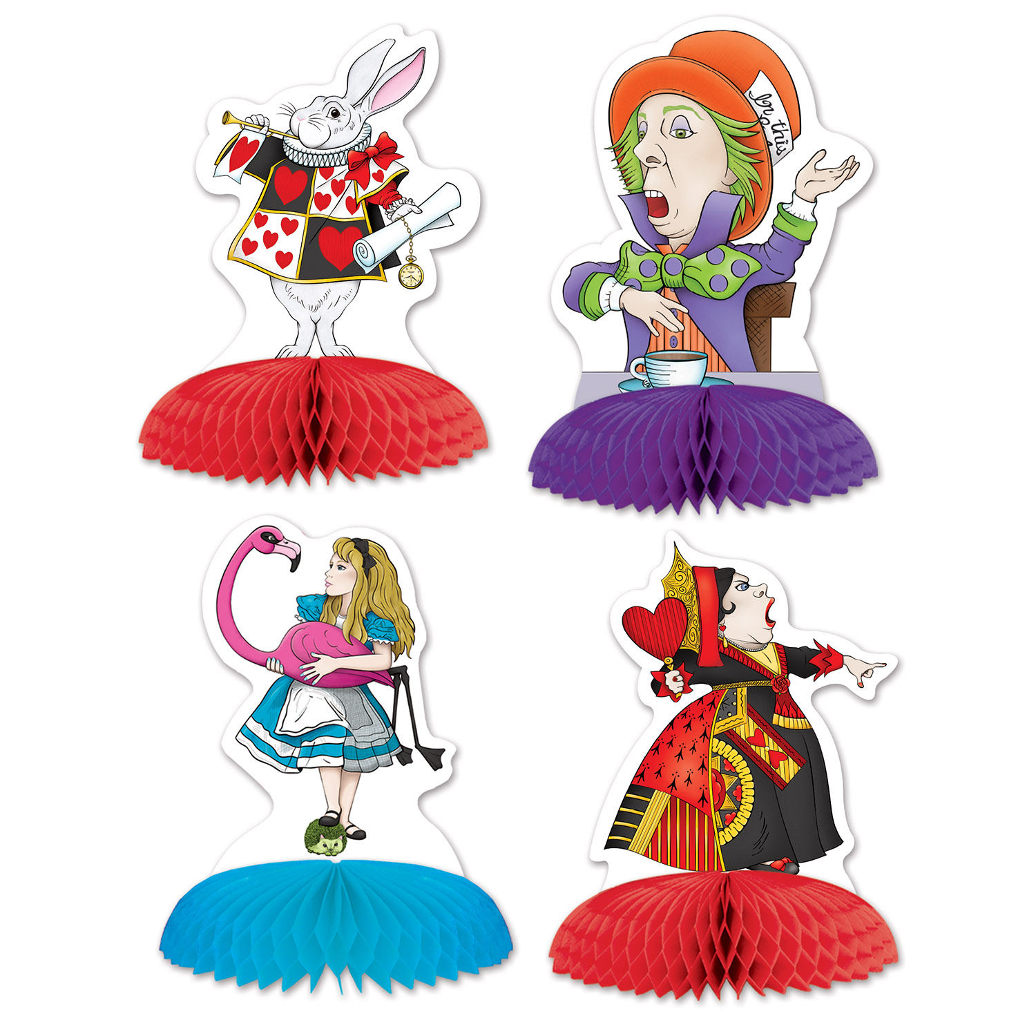 Alice In Wonderland Mini Centerpieces (Pack of 48) Alice In Wonderland, Mini Centerpieces , Table Decor, Inexpensive party supplies, Wholesale party favors, Party goods, Birthday party supplies