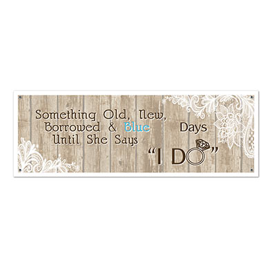 Count down the days Rustic Wedding Sign Banner